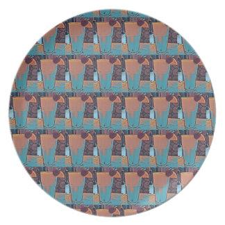 Prato Placa retro da melamina do Smoothie #1