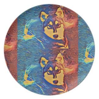 Prato Placa ronca #1 da melamina do duo
