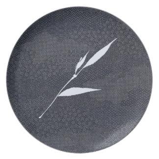 Prato Placa tingida da melamina de Jitaku índigo de