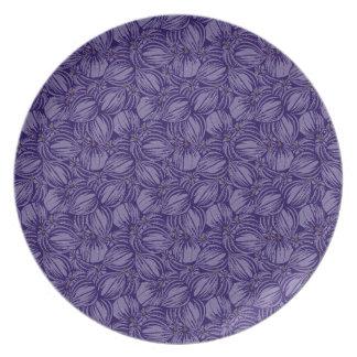 Prato Placa violeta dos figos