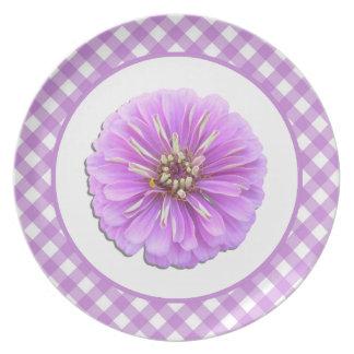 Prato Placa - Zinnia e estrutura do Lilac