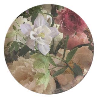 Prato Placas florais românticas da melamina