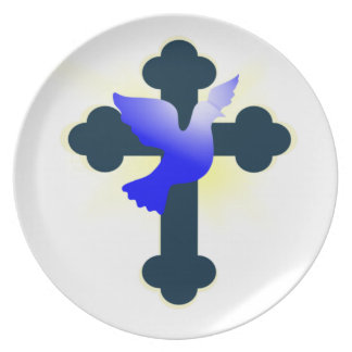 Prato Pomba e cruz