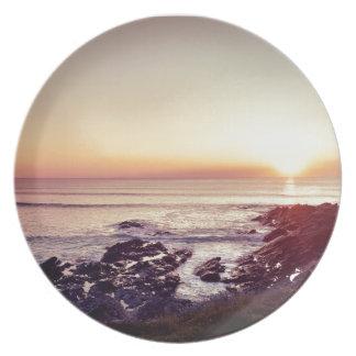 Prato Por do sol da praia de Fistral