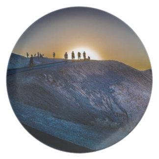 Prato Por do sol do ponto do zabriskie do Vale da Morte