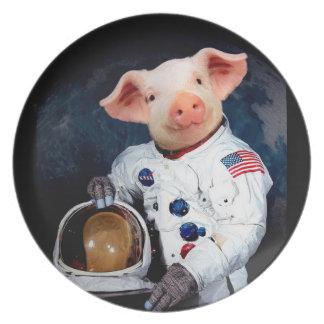 Prato Porco do astronauta - astronauta do espaço