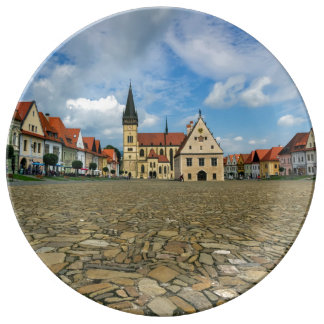 Prato Praça da cidade velha em Bardejov, Slovakia
