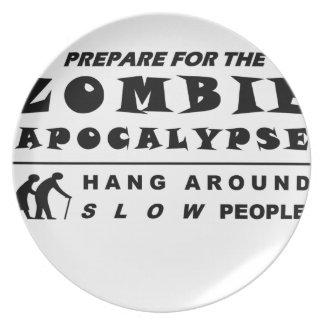Prato Prepare para o zombi