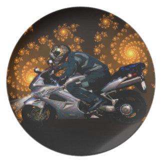 Prato Presente do transporte do motociclista do poder da