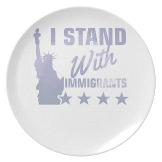 Prato Pro camisa da estátua da liberdade da imigração