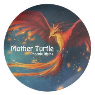 Prato Produtos da tartaruga da mãe