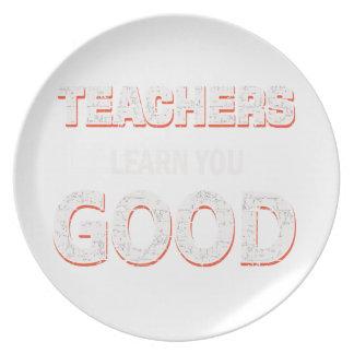 Prato Professores que vão aprendê-lo bom