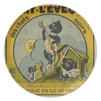 Prato Propaganda do francês do vintage