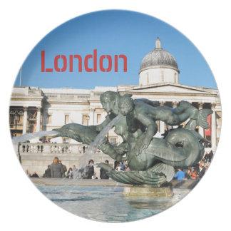 Prato Quadrado de Trafalgar em Londres, Reino Unido