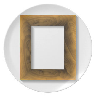 Prato quadro de madeira