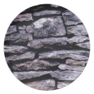 Prato quebra-cabeça da rocha