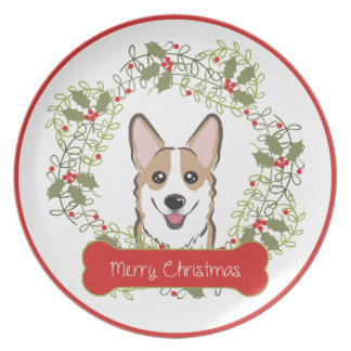 Prato Raça do cão do Natal Collectible