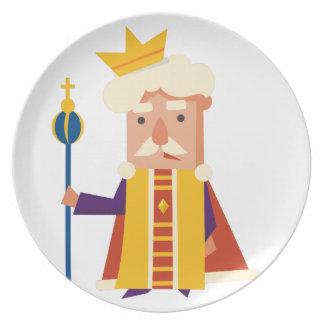 Prato Rei personagem de desenho animado