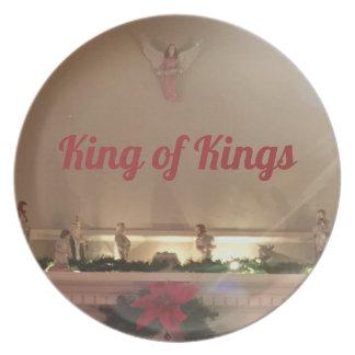 Prato Rei rei da cena da natividade do Natal