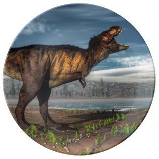 Prato Rex do tiranossauro