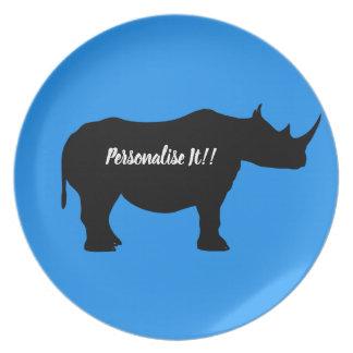 Prato Rinoceronte da silhueta