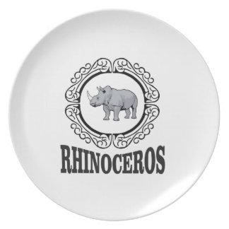 Prato Rinoceronte na caneca