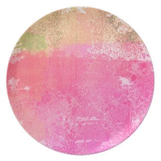 Prato Rosa abstrato da aguarela do Grunge