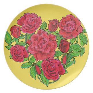 Prato Rosas vermelhas