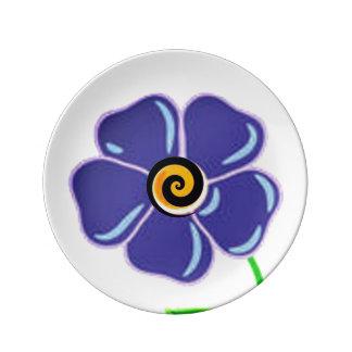 Prato Roxo espiral da flor