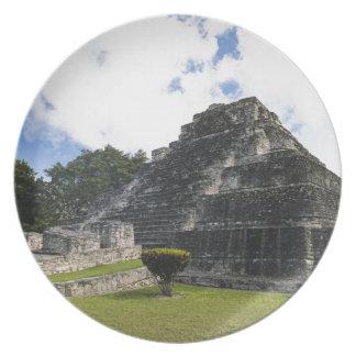 Prato Ruínas maias de Chacchoben do Maya da costela