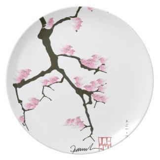 Prato sakura e pássaros cor-de-rosa, fernandes tony