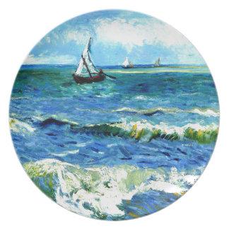 Prato Seascape em Saintes-Maries, Vincent van Gogh