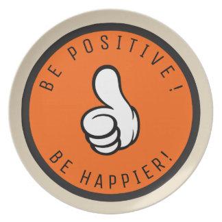 Prato Seja positivo! Esteja mais feliz!