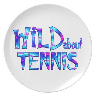 Prato Selvagem sobre o tênis