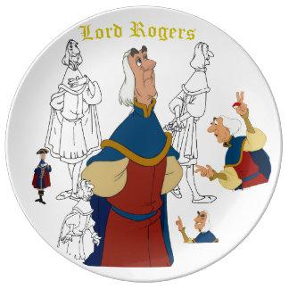 """Prato Senhor Rogers Porcelana Esboço Placa (10,75"""")"""