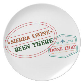 Prato Sierra Leone feito lá isso