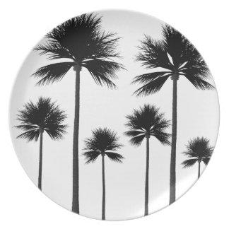 Prato Silhueta da palmeira