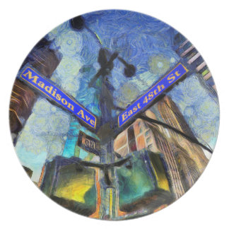 Prato Sinal de rua Van Gogh de New York