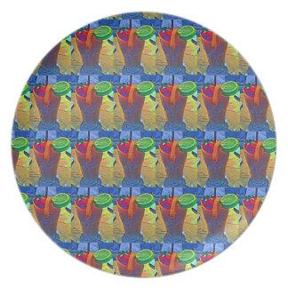 Prato Smoothie tropical telhado # placa de 2 melamina