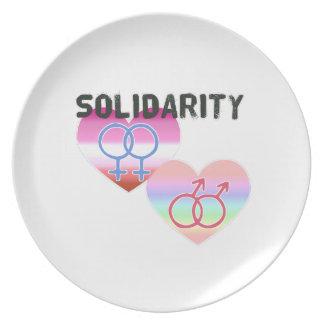 Prato Solidariedade alegre lésbica