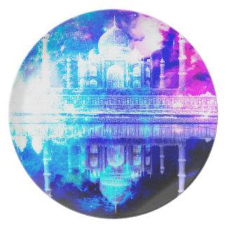 Prato Sonhos de Taj Mahal do céu da criação