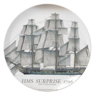 Prato Surpresa 1796 do HMS envelhecida