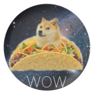 Prato Taco do Doge - doge cão-bonito do doge-shibe-doge