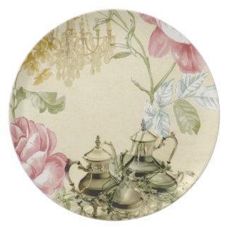 Prato Tea party floral francês de Paris do bule do