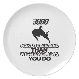 Prato Tendendo o DESIGN do judo