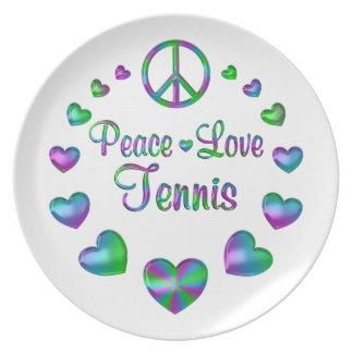 Prato Tênis do amor da paz