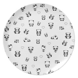 Prato Teste padrão da panda