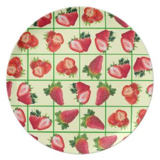 Prato Teste padrão das morangos
