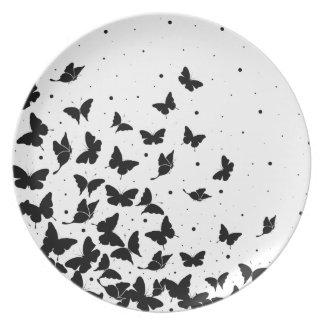 Prato Teste padrão de borboleta