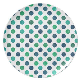 Prato Teste padrão de pontos bonito XIV